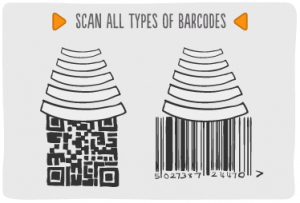 Mobile Barcoding Application Features - Scan all types of barcodes