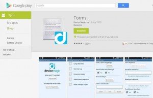 Play store - Forms
