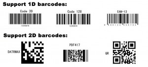 types of barcodes