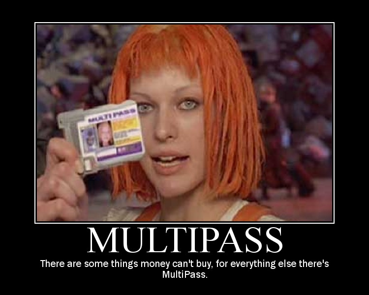Fifth Element Style MultiPass For Public Transit